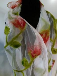 zijden sjaal tulpen